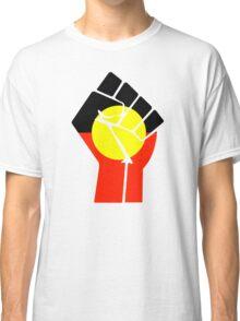 Raised Fist - Aboriginal Flag Classic T-Shirt