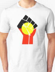 Raised Fist - Aboriginal Flag T-Shirt