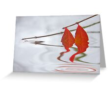 Autumn Drains Away Greeting Card