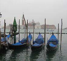 Blue Gondolas - Venice by Nadalina