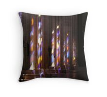 Stained Glass Refelections Throw Pillow