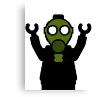 Apocalyse Minifigure wearing Gasmask Canvas Print
