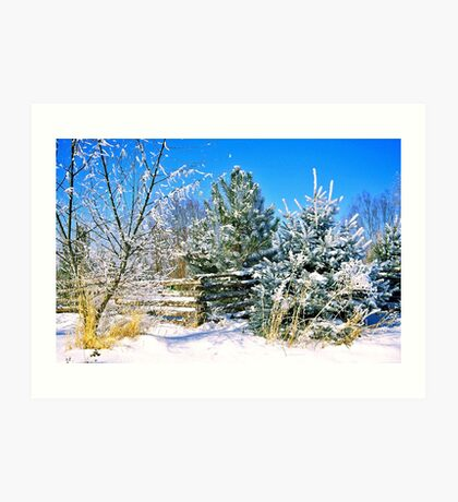 Idaho Winter Scene 1, USA Art Print