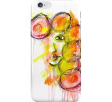 Mixed Media Faces iPhone Case/Skin