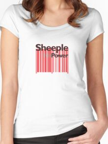 Sheeple NoPowerRed Women's Fitted Scoop T-Shirt