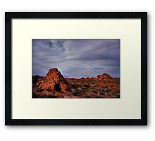 In the Valley of Fire Framed Print