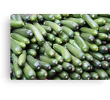 Market Series - Z is for Zucchini Canvas Print