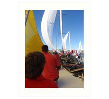 Sailing on maxi yacht Broomstick, Australia Art Print