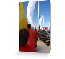 Sailing on maxi yacht Broomstick, Australia Greeting Card