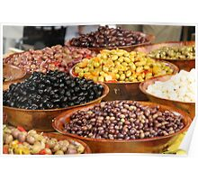 Market Series - A bounty of olives Poster