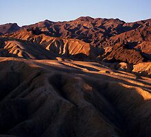 Folds at Zabriskie Point, Death Valley, California by Tom Fant