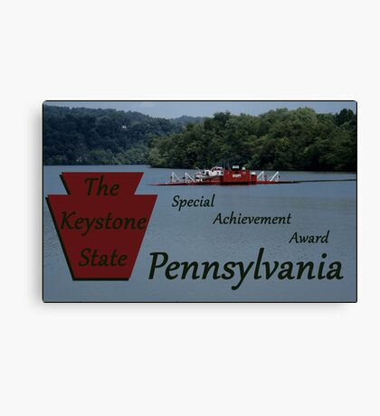 The Keystone State special achievement award Canvas Print