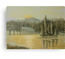 Dawn on Yellowstone Lake Canvas Print