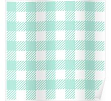 Mint Gingham Poster