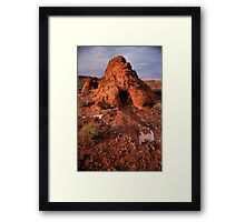 Rock Mound in the Valley of Fire, Nevada Framed Print