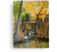 Sunny October Day at Gladwyne Canvas Print