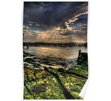 Stormy Weather - Paradise Beach, Sydney - The HDR Experience Poster