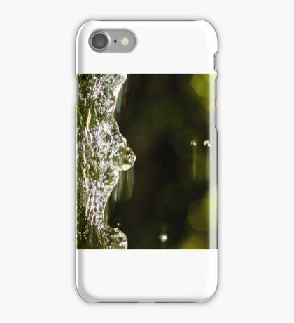 Macro falling water iPhone Case/Skin