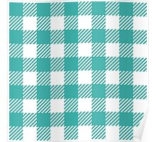 Teal Gingham Poster