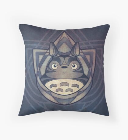 My Neighbour the Forest Spirit of Stone Throw Pillow