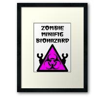 ZOMBIE MINIFIG BIOHAZARD Framed Print