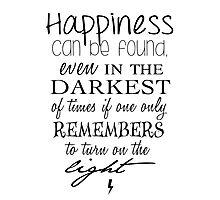 Albus Dumbledore Quote - Harry Potter Photographic Print