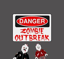 DANGER ZOMBIE OUTBREAK by Customize My Minifig