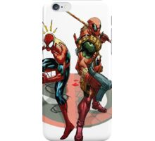 Spiderman and deadpool iPhone Case/Skin