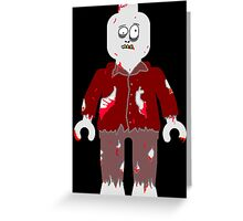 Zombie Minifig Greeting Card