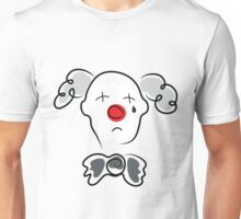 Portrait of a sad clown  Unisex T-Shirt
