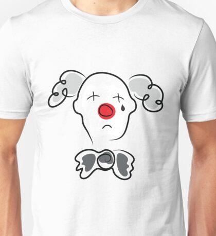 Portrait of a sad clown  Unisex T-Shirt