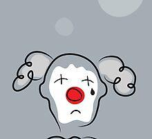 Portrait of a sad clown  by Sofia Wrangsjo
