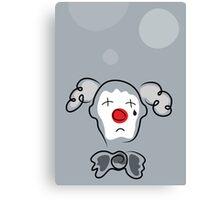 Portrait of a sad clown  Canvas Print