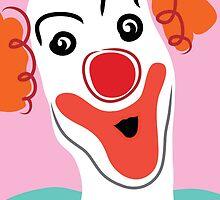 Portrait of a clown by Sofia Wrangsjo