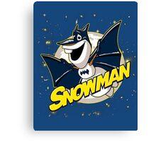 Funny Frozen Olaf Snowman Canvas Print