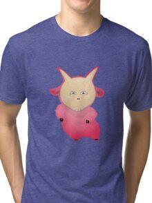 Funny cartoon goat Tri-blend T-Shirt