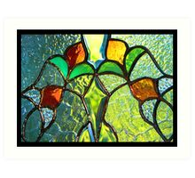 Summer Through Stained Glass Art Print