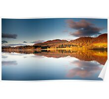 Winter sunrise, Lake of Menteith, Scotland Poster