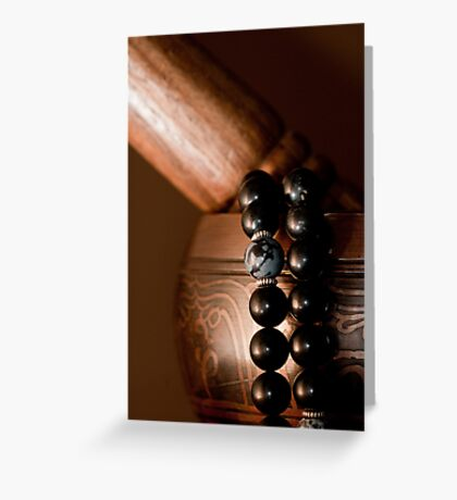 Singing Bowl and Mala in Color Greeting Card