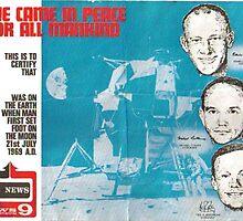 luna landing 1969 commemorative certificate by Allen  Anderson