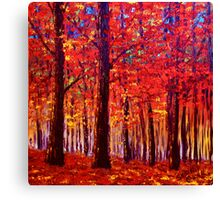 The Rustling Maple Leaves Canvas Print
