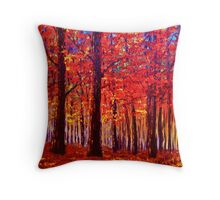 The Rustling Maple Leaves Throw Pillow