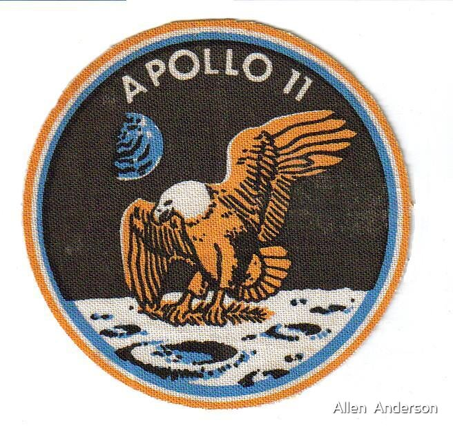 Apollo 11 badge by Allen  Anderson