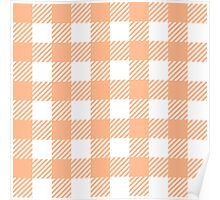 Peach Gingham Poster