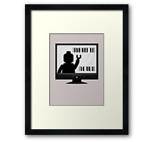 MINIFIG NEWS Framed Print