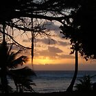 Sunset from the Cocos Castaway by abbycat
