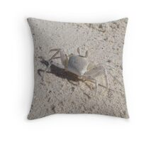 Horn-eyed Ghost Crab - Cocos (Keeling) Island Throw Pillow