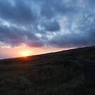 Sunset behind Maui by Amy Hale