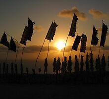 Sunset at God's Birthday festival - Christmas Island by abbycat