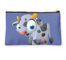 Cute goggle-eyed calf Studio Pouch